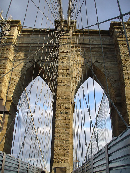 Brooklyn Bridge, New York, Usa, Architecture, Structure