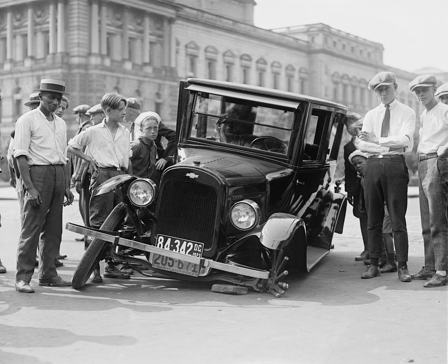 Automotive, Defect, Broken, Car Wreck, Usa, 1923
