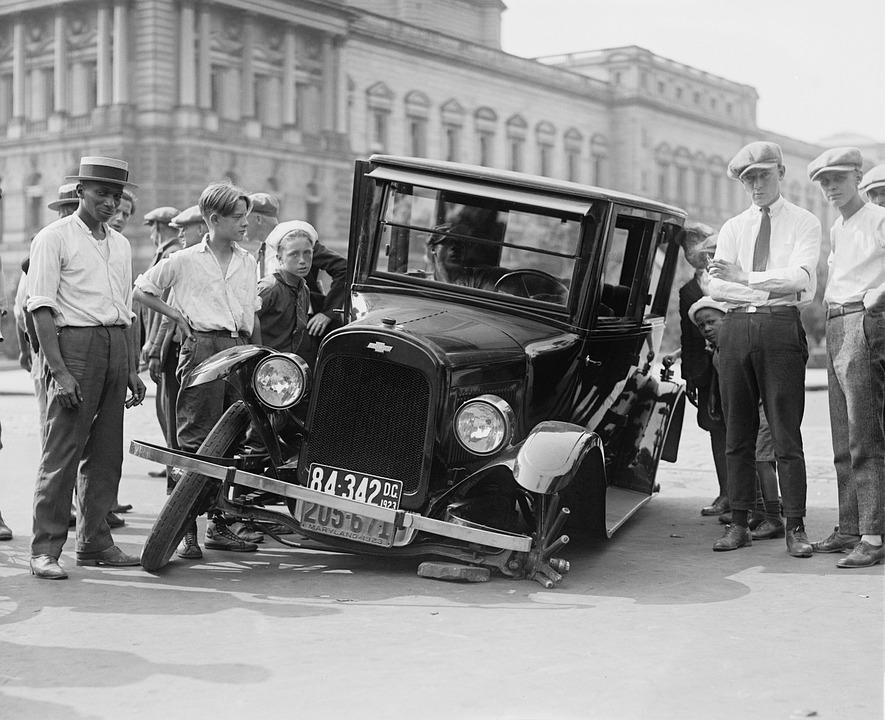 Automotive, Defect, Broken, Car Wreck, Usa, 1923