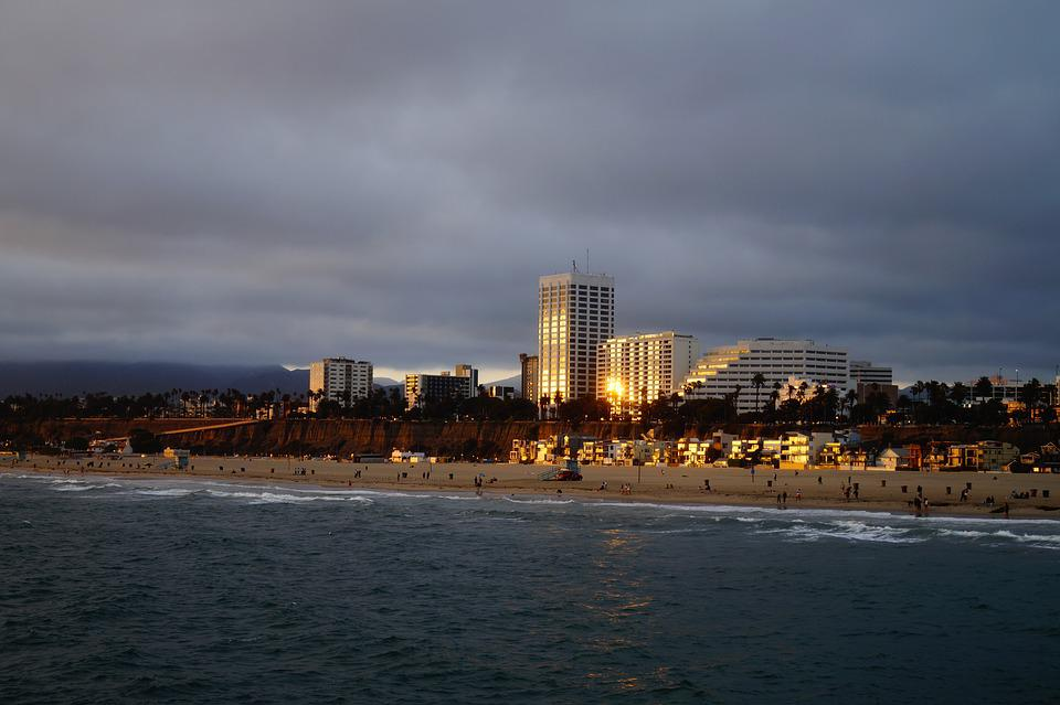 Los Angeles, Usa, Westcoast, Beach, Coast, Sunset, Sea