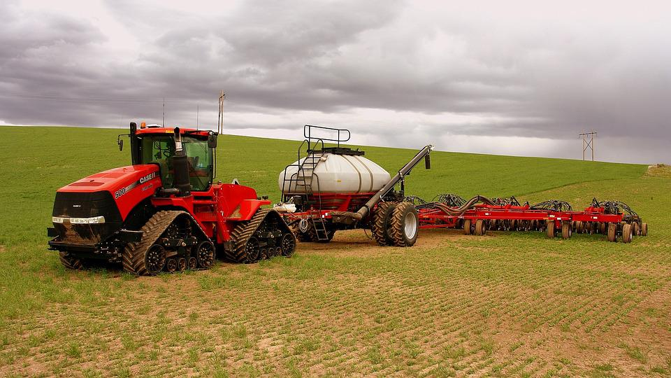 Wyoming, Usa, Field, Tug, Farm
