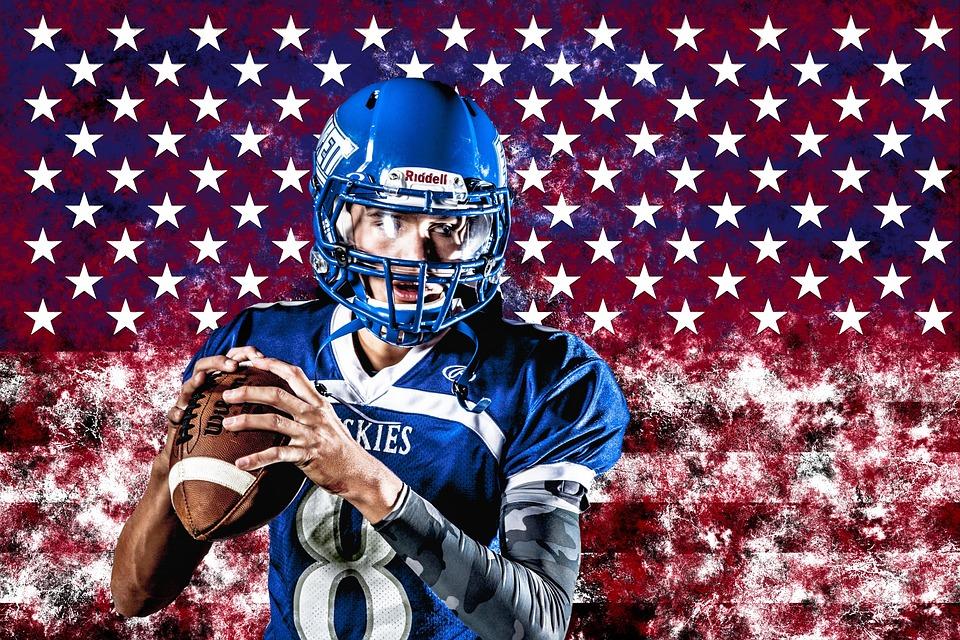 Usa, American Football, Sport, Flag, America