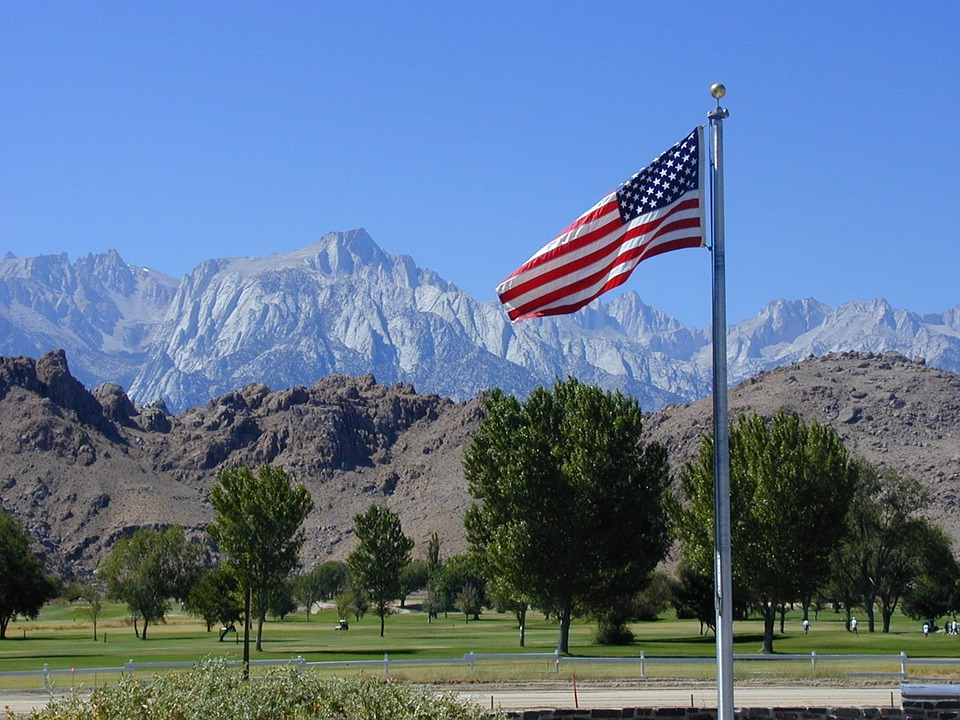 Flags, Usa, Sierra Nevada, Rocky Mountains