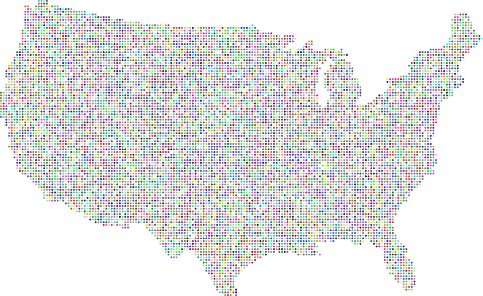 Free photo Usa Map Borders America Country United States - Max Pixel