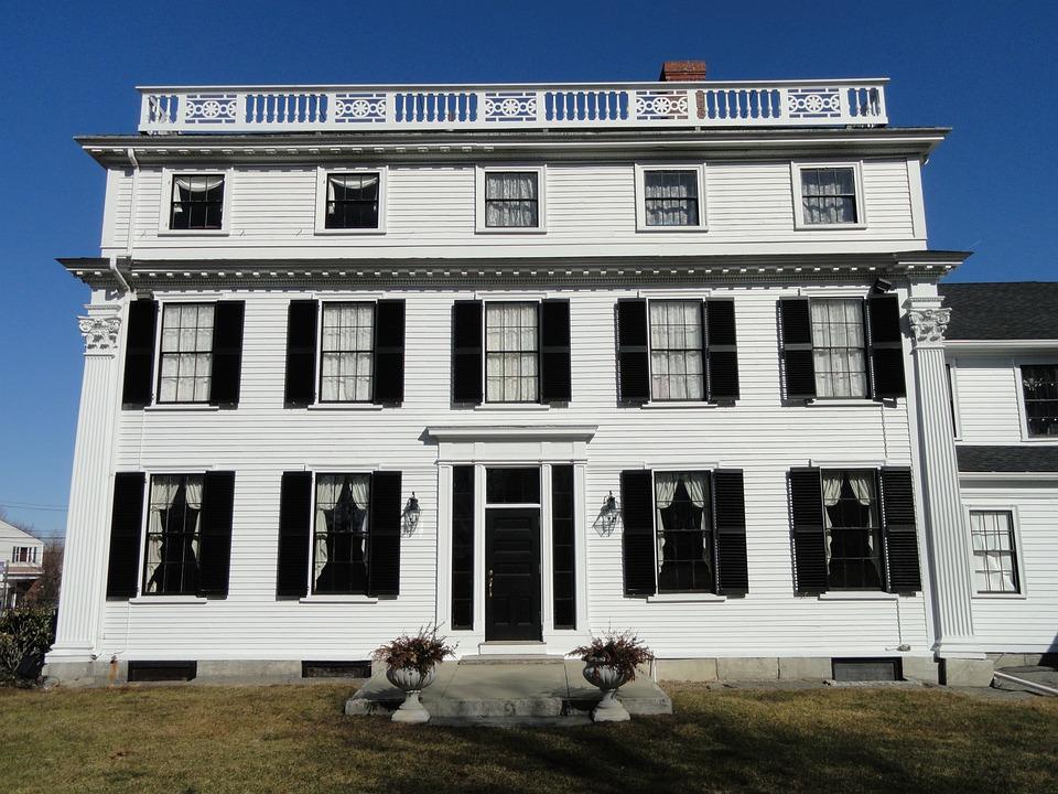 Asa Waters Mansion, Millbury, Massachusetts, Usa