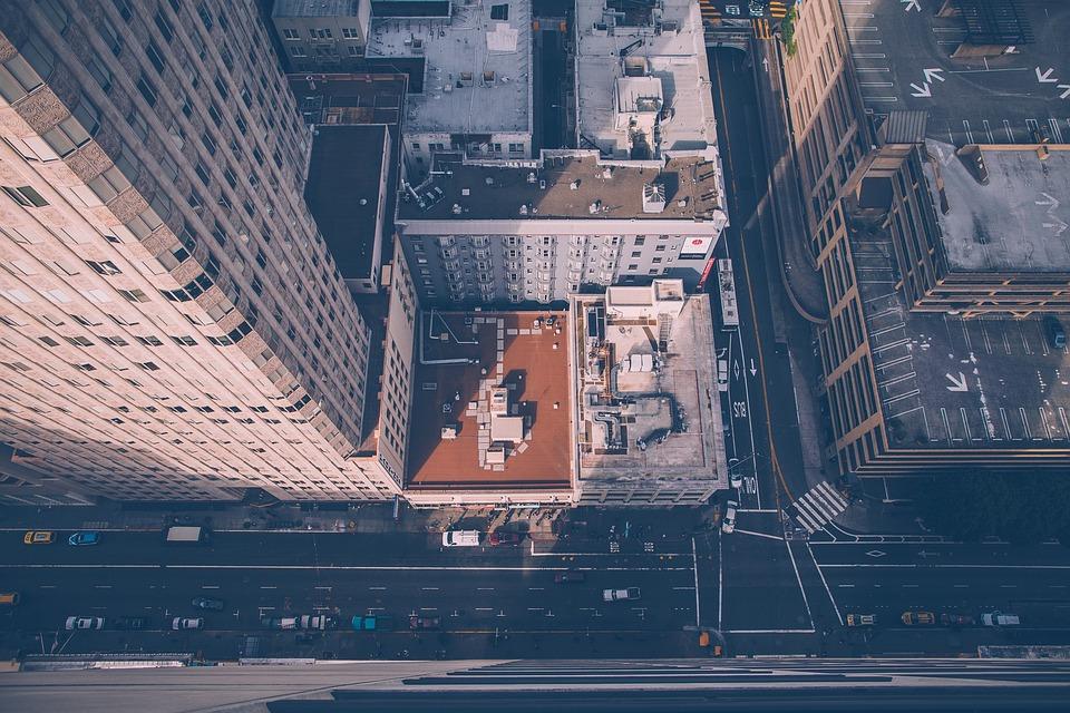 City, Aerial, Street, Buildings, Nyc, New York, Usa