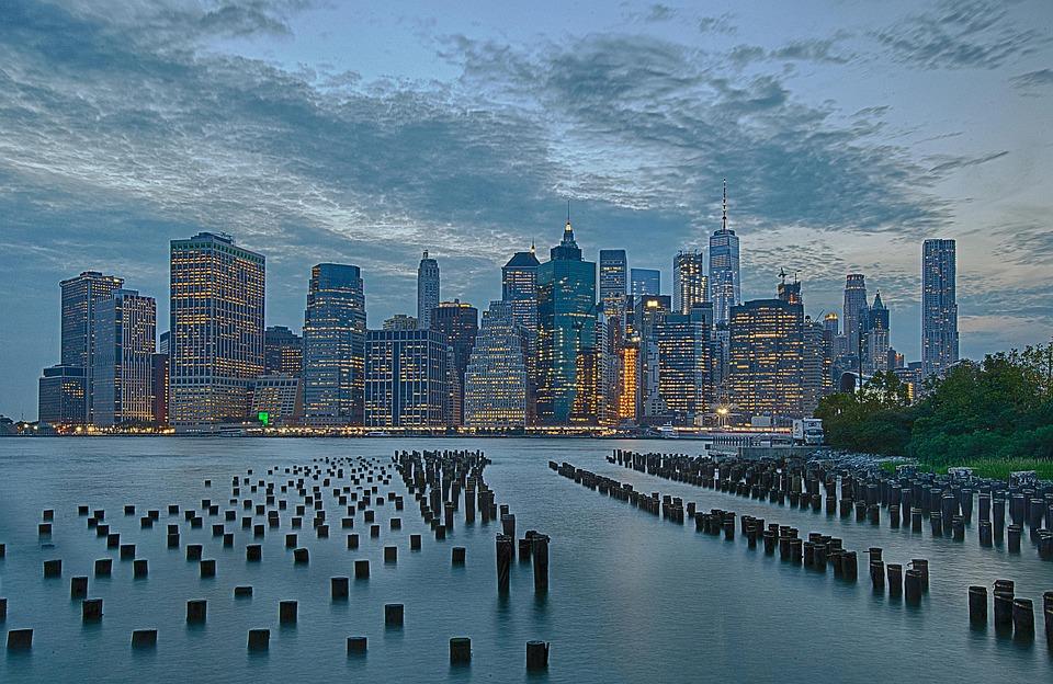 New York, Manhattan, City, Usa, Architecture, Skyline