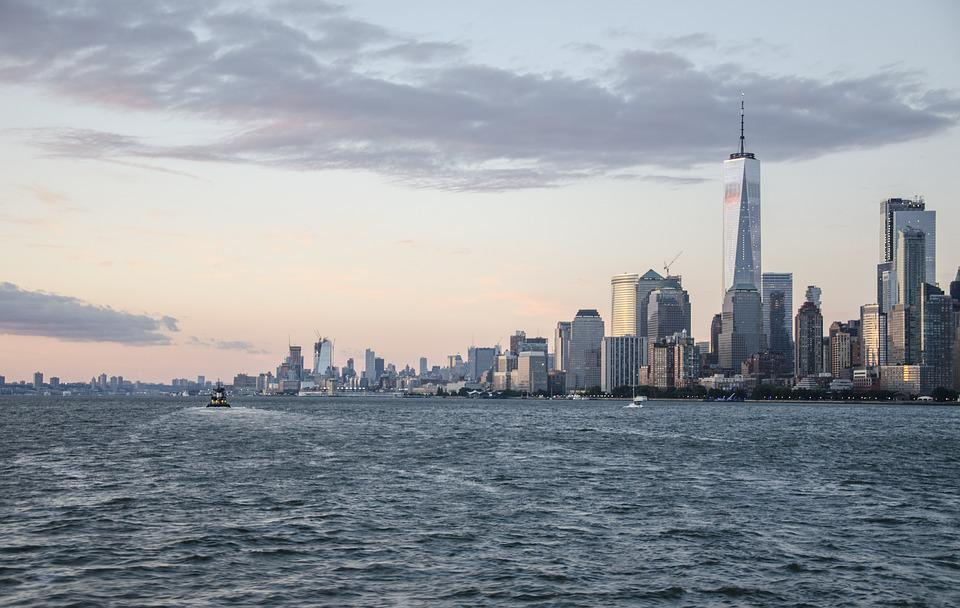 Usa, New York, Ny, Nyc, Skyline, Hudson River