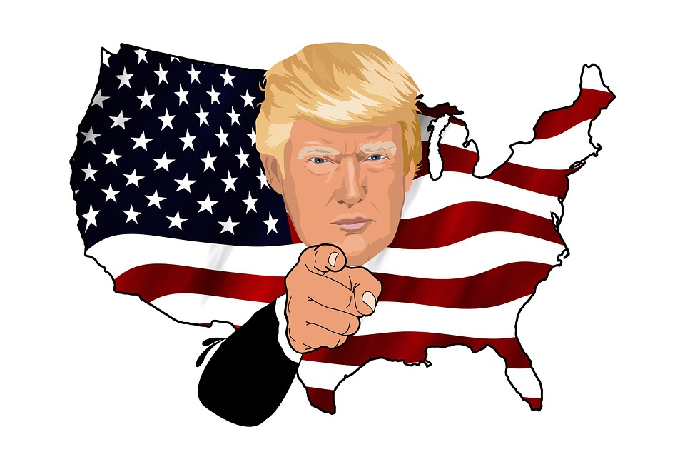 Trump, President, Uncle Sam, Usa, America, Flag