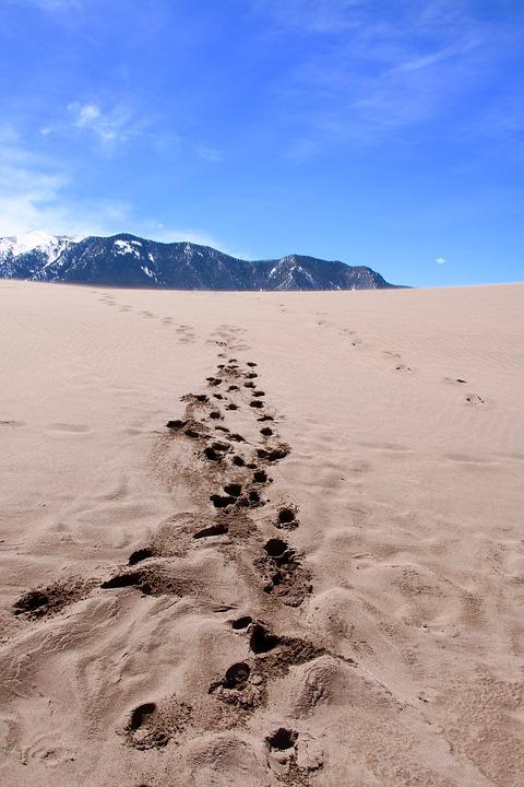 Usa, Great Sand Dunes National Park, Rocky Mountains