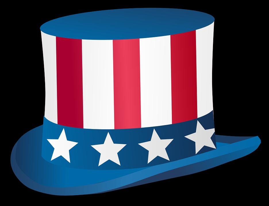 Uncle Sam Hat Stars Usa America Red Blue White