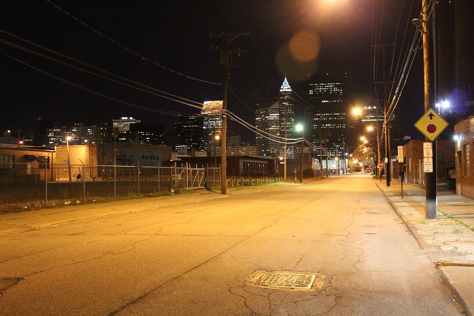 Street Lighting, America, Usa, Night, Road, Empty