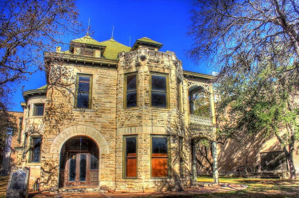 San Antonio, Old, Historical, Building, Usa, Texas