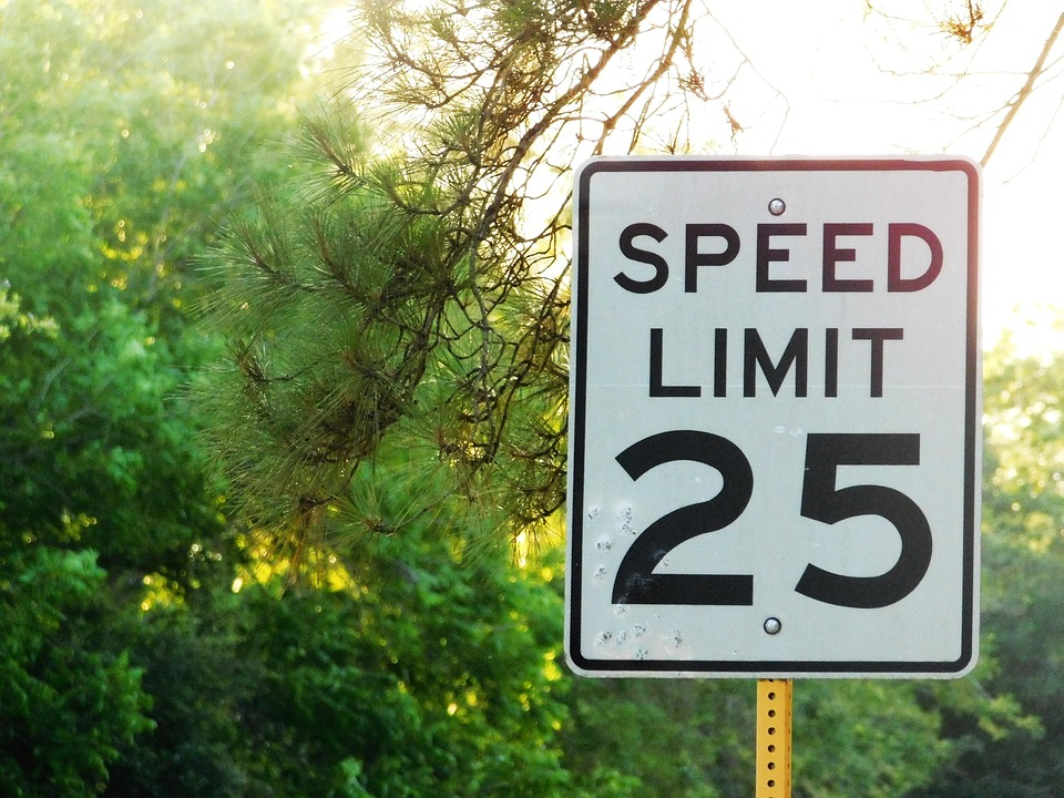Limit, Speed, Truck, Lead, Usa, Signal, Rural Road
