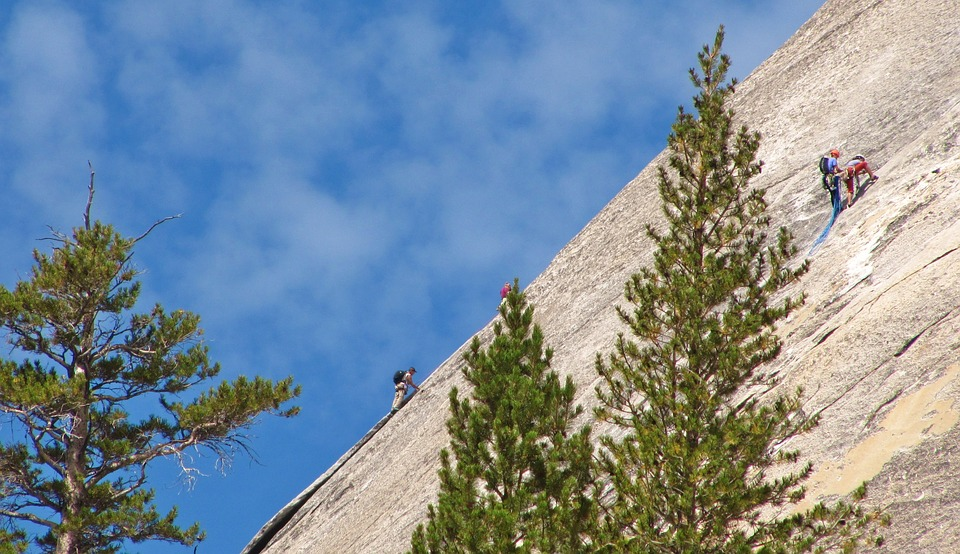 Usa, America, Yosemite Park, Rock, Sky, Clouds, Nature