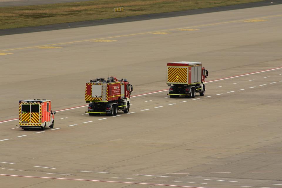 Airport, Fire, Wf, Use, Kölnbonn, Fire Engines, Drive