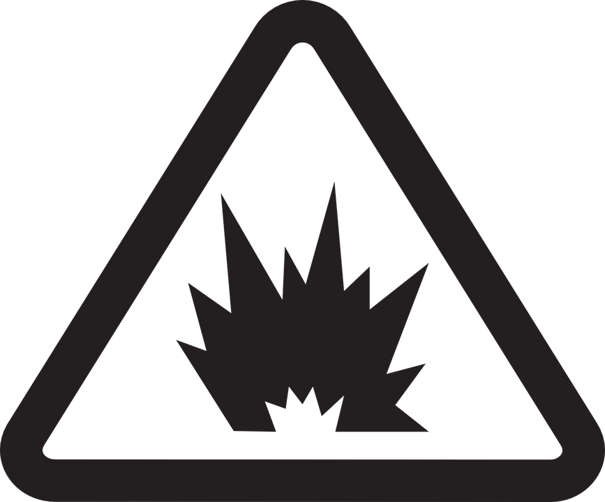 Near, Safety, Warning, Packaging, Not, Use, Blasts