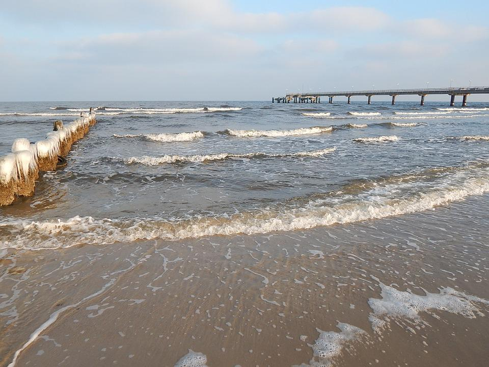 Winter, Beach, Baltic Sea, Island, Usedom