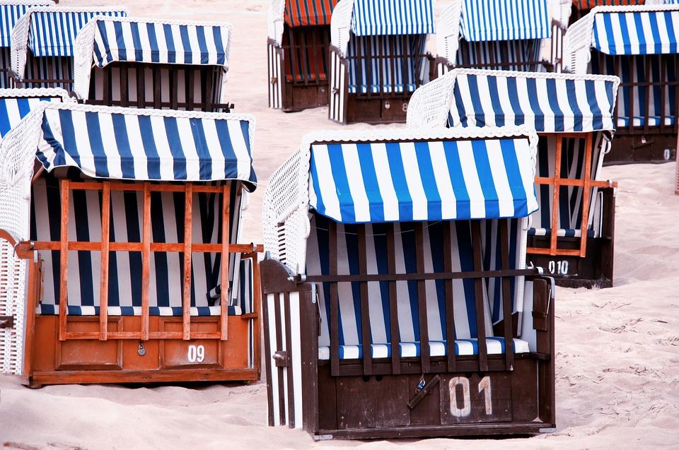 Beach Chair, Sand, Beach, Clubs, Baltic Sea, Usedom