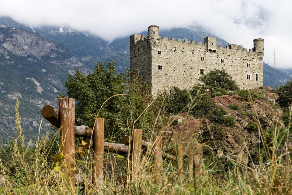 Castle, Ussel, Aosta