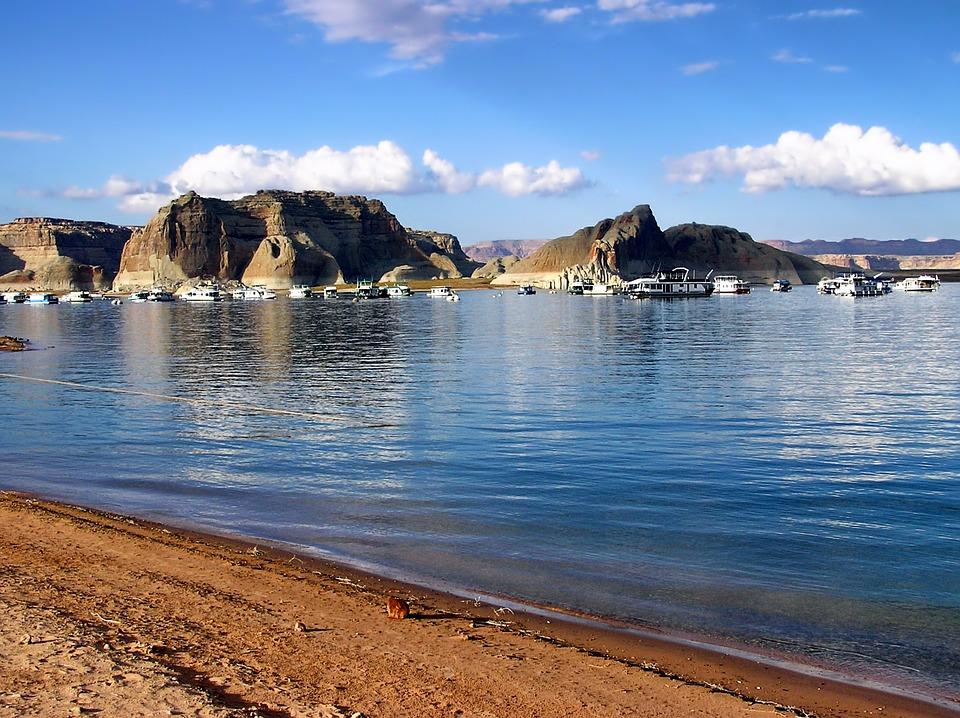 Glen Canyon, Utah, Mountains, Landscape, Scenic, Lake