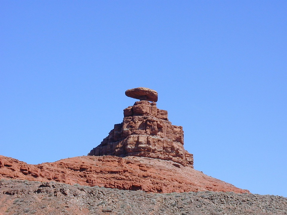 Mexican Hat Rock, Monument Valley, Utah