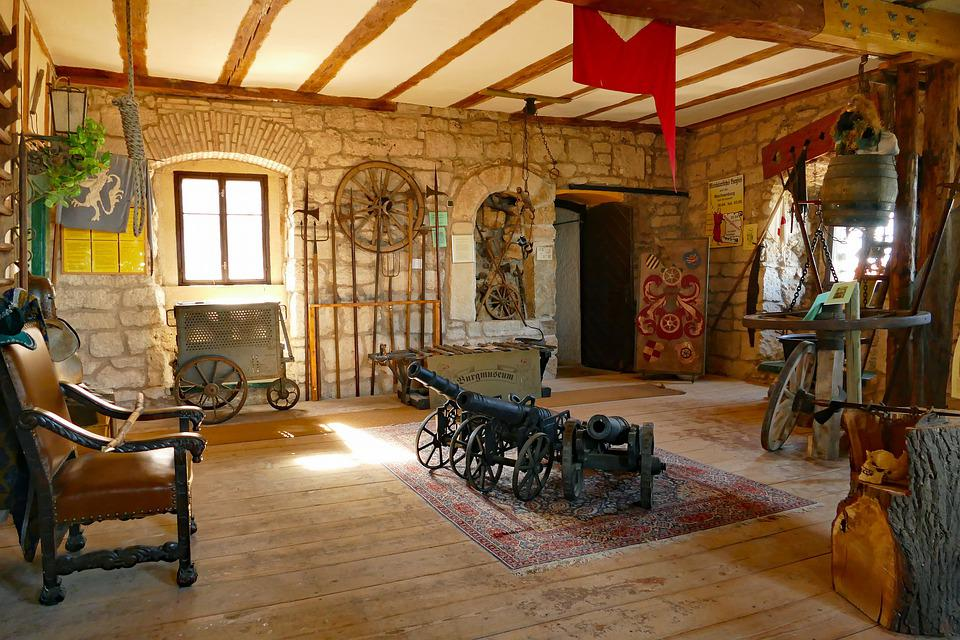 Castle, Castle Room, Setup, Utensils, Middle Ages