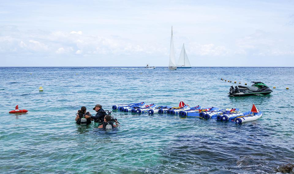 Scuba Diving, People, Person, Sea, Blue, Vacation
