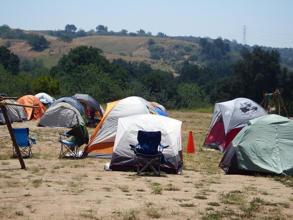 Camp, Camping, Tents, Outdoors, Vacation, Nature