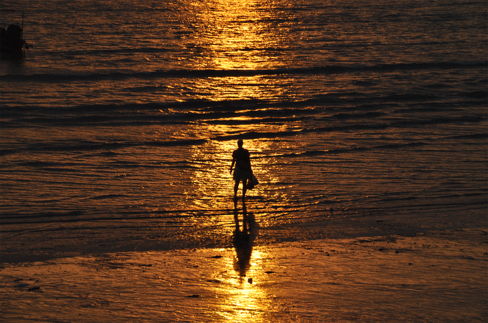 Sunset, Marine Sunset, Evening Shore, Sea, Vacation