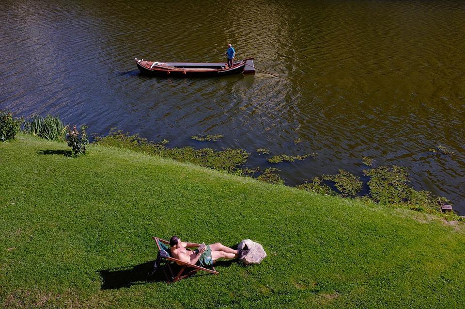 Man, Tan, Vacation, Summer, Lake, Boat, Beach, Florence