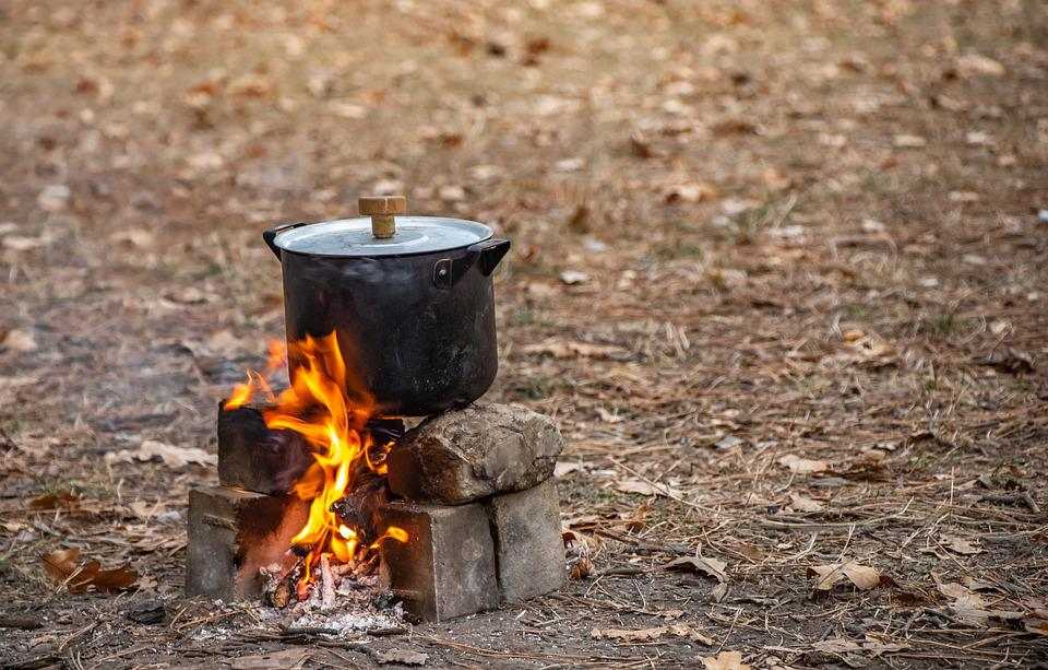 Picnic, Bonfire, Food, The Pot, Vacation, Leisure, Hot