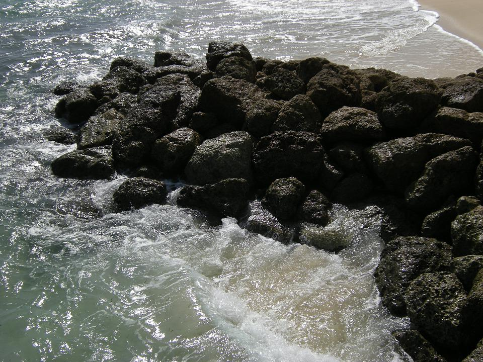 Ocean Wave, Rock, Water, Wave, Ocean, Beach, Vacation