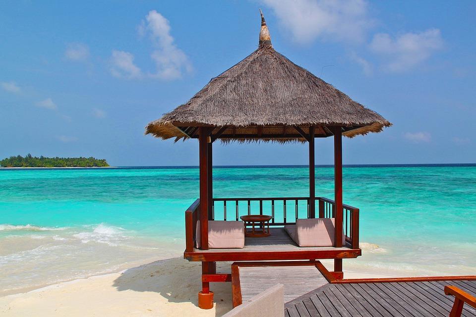 Beach Hut, Beach, Vacation, Holidays, Sand, Sea