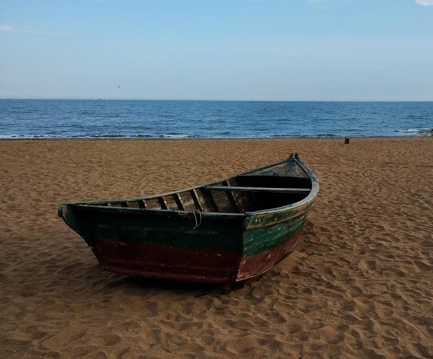 Sandy, Beach, Boat, Sea, Summer, Travel, Vacation