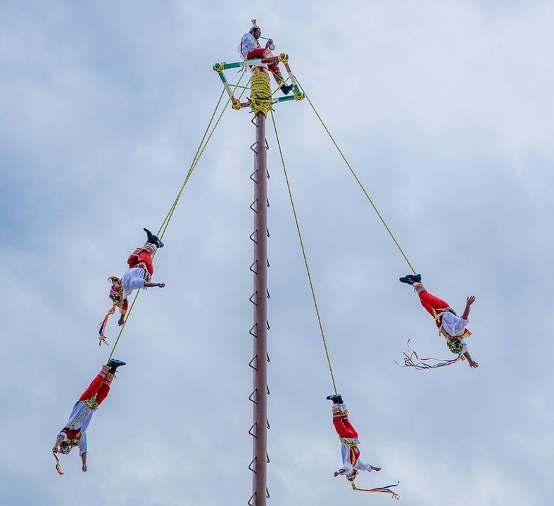 Mexico, Acrobats, Vacation, Tourism, Performance, Sky