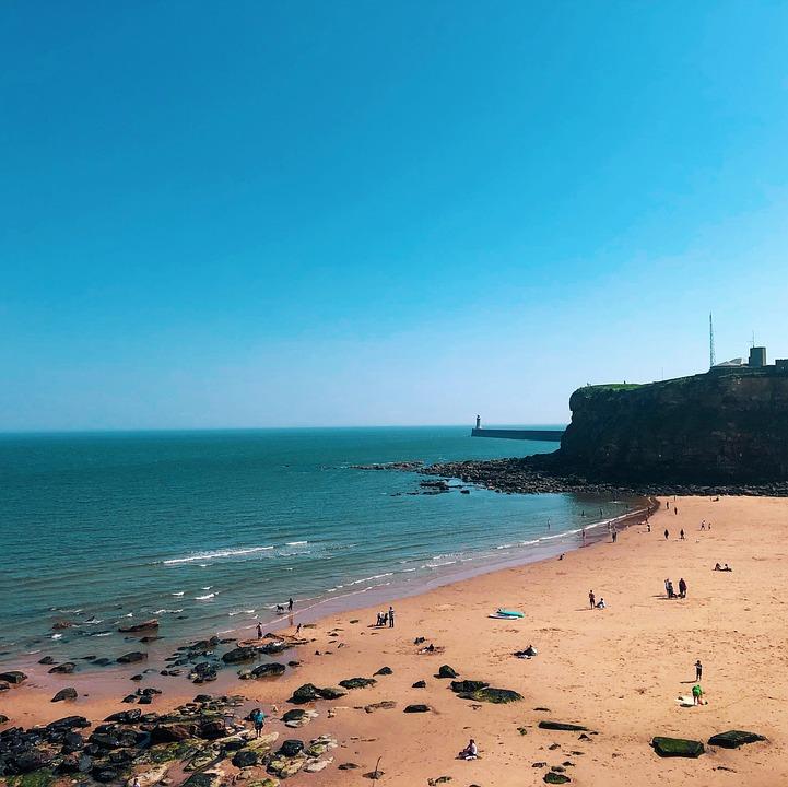 Beach, People, Sky, Sea, Ocean, Water, Vacation, Happy