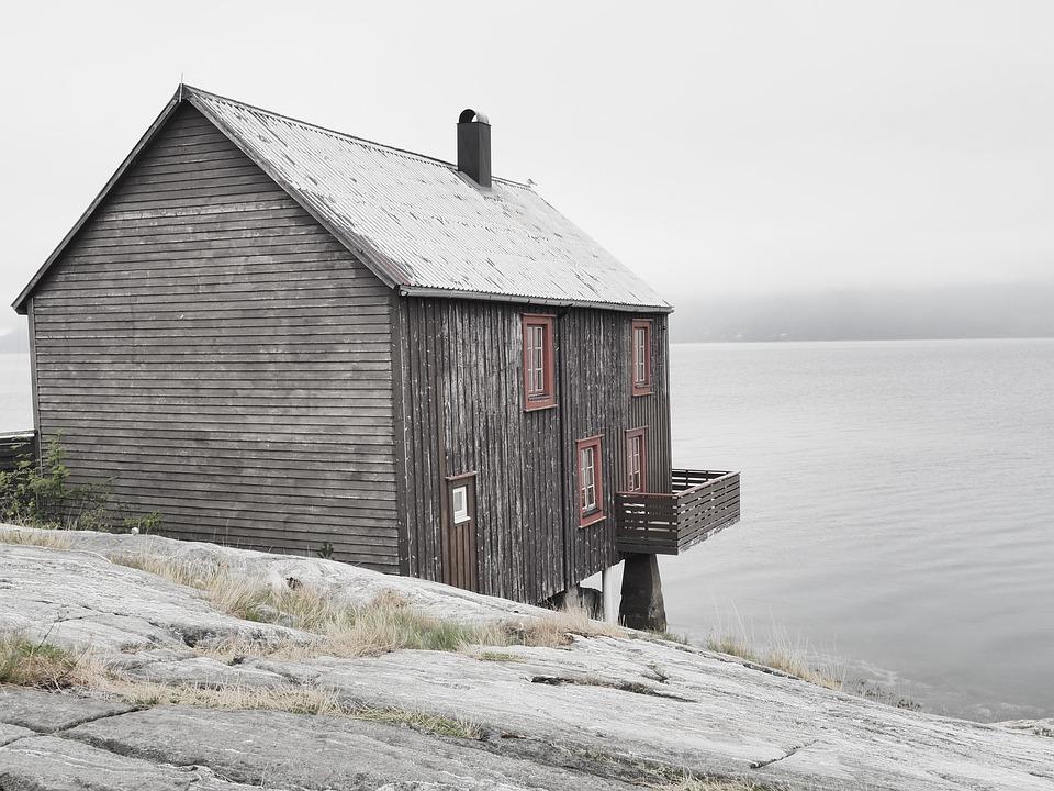 House, Lake, Hut, Vacations, Idyllic, Rural, Building