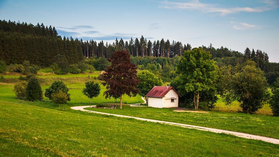 Landscape, Heudorf, Idyll, Hiking, Rest, Vacations