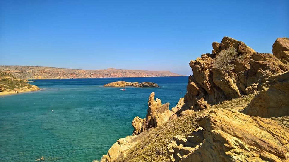 Crete, Bay, Sea, Vacations, Nature, Beach, Water