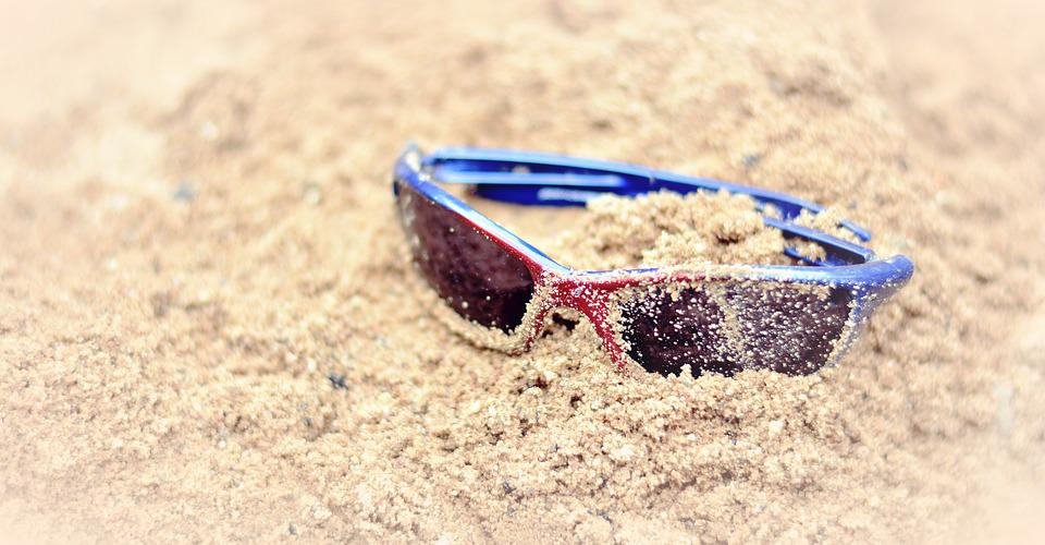 Sunglasses, Sand, Summer, Beach, Sand Beach, Vacations