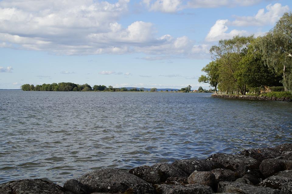 Vättern, Lake, Vadstena, Sweden, Waters, Rest, Silent