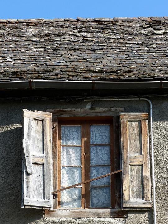 Val D'aran, Window, Roof, Curtains, Slate