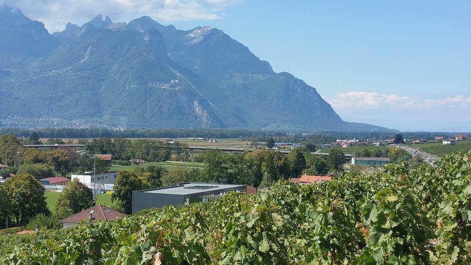 Switzerland, Valais, Rock, Mountains, Alpine, Sky