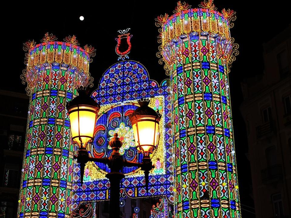 Fallas, Valencia, Valence, Light, Region Of Valencia