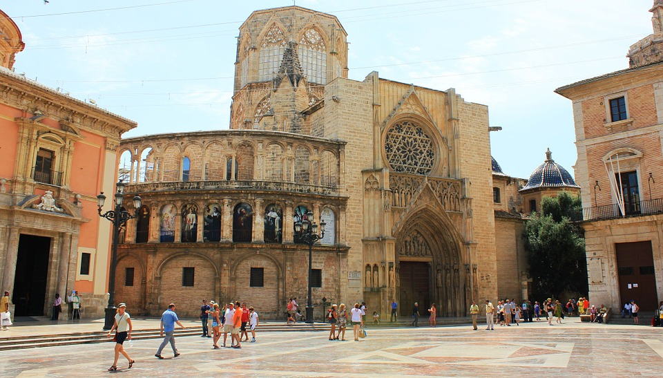 Cathedral, Valence, Spain, Place Of The Virgin