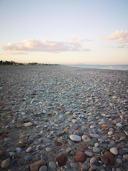 Beach, Sea, Stones, Costa, Valencia