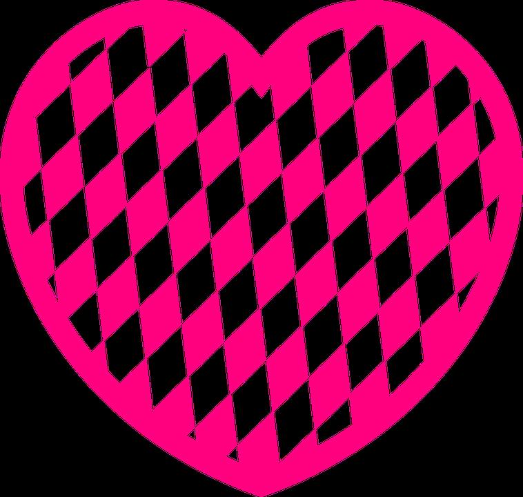 Pattern, Heart, Diamond, Love, Pink, Day, Valentine