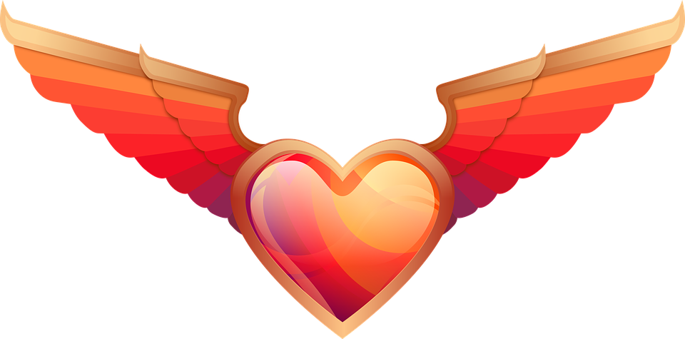 Love, Heart, Wings, Valentine Day