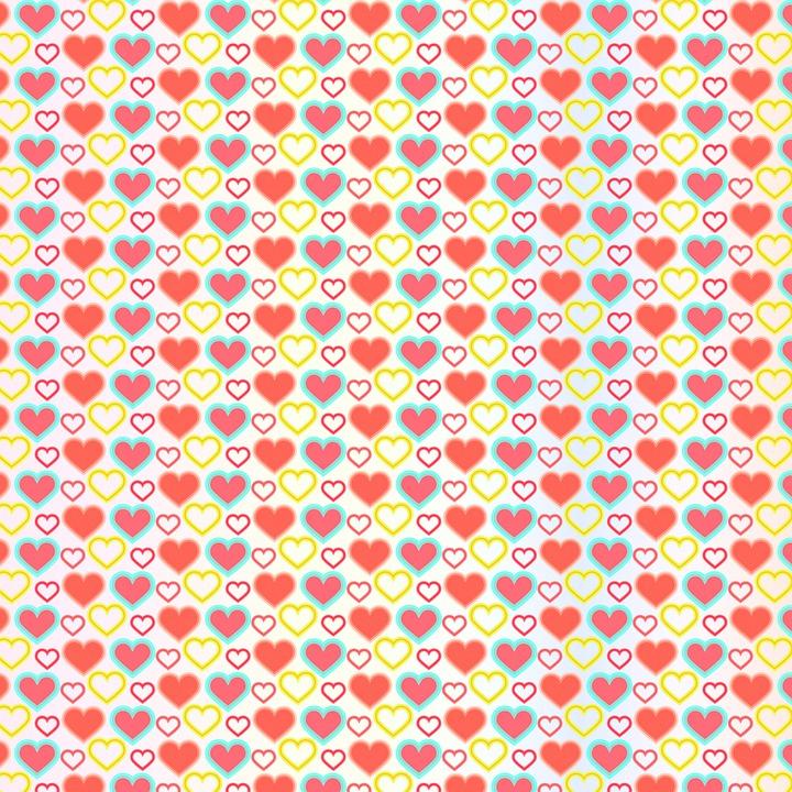 Digital Paper, Hearts, Valentine, Greeting, Pattern
